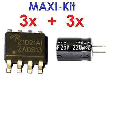 VU+ Duo Reparatur MAXI Kit IC 3x AOZ1021 + 3 Elkos Low-ESR * Z1021AI Repair Kit