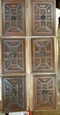 Set Of 6+2 Carved Oak Panels late 18th century