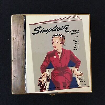 "Vintage Wadsworth Simplicity Powder Compact Makeup Set 1950""s"