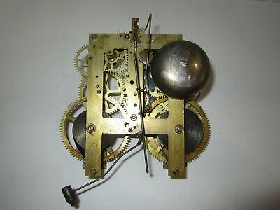 Antique Sessions Mantel Clock Movement, Time and Strike, 8-Day, Key-wind