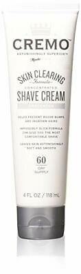 Cremo Unscented Shave Cream With Skin Clearing Formula, Helps Prevent Razor B...
