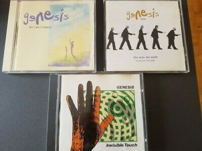 3 CDs Genesis - We Can't Dance & Live/The Way We Walk & Invisible Touch