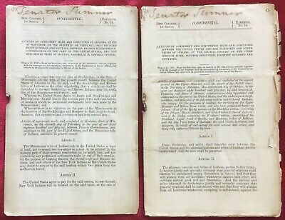 1856 34th CONGRESS 1st SESSION - SIGNING TREATIES WITH NATIVE AMERICAN INDIANS