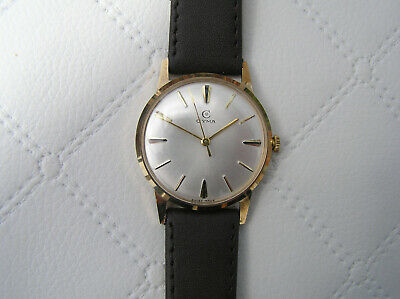Vintage 9Ct Gold Cyma Gents Wristwatch