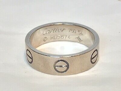 1aa58042034a0 CARTIER LOVE BAND Ring 18k 750 White Gold Size 5 - $309.00 | PicClick