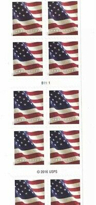 10 $.55 Cents Each USPS Forever Stamps Star Banner Flag Heart Postage USA