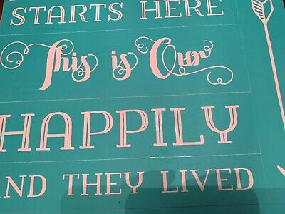 Chalk Couture Transfer, Happily Ever After RARE VHTF