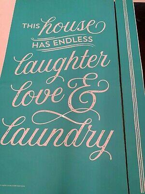 Chalk Couture Transfer, Endless Love Laughter & Laundry  RETIRED
