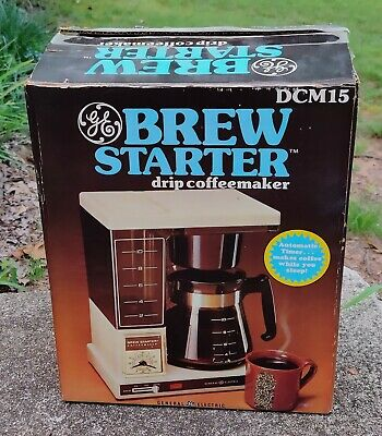 GE Coffeematic Brew Starter Vintage 10 Cup Automatic Timer Coffee Maker DCM 15