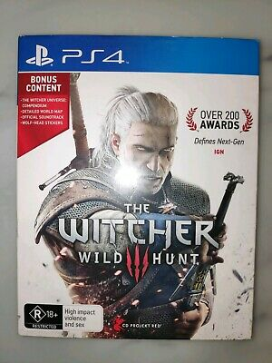 The Witcher III Witcher 3 Wild Hunt RPG Game - Sony PS4 Playstation 4