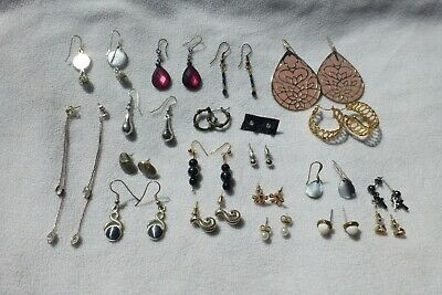 Job Lot Bundle Of 20 Mixed Pairs Of Costume Jewellery Earrings
