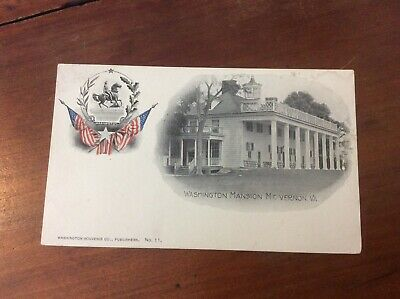 Postcard Private Mailing Card Washington Mansion Mount Vernon Virginia