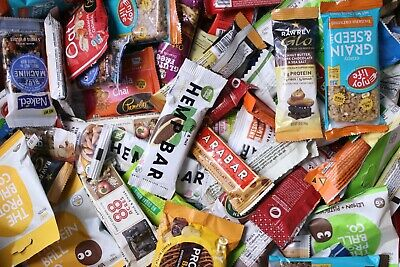 100 Mixed Lot Protein Energy Bars Healthy Snack Various Brands Assorted Flavors