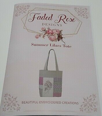Embroidery Pattern - Summer Lilacs Tote by Faded Rose Designs