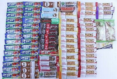 75 Mixed Lot Protein Energy Bars Healthy Snack Various Brands Assorted Flavors