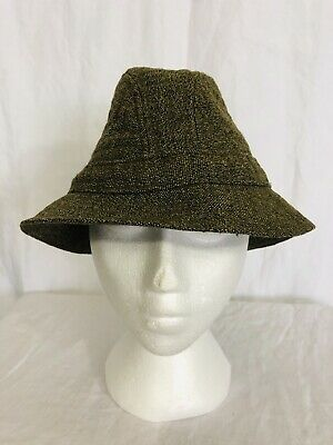 7d1bccd3 Vintage LL Bean Keepers 100% Tweed Wool Trilby Fedora Hat Mens Small Marked  SM