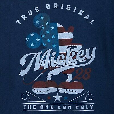 "*NEW Retail* Disney Parks - Mickey Mouse ""Americana""  Blue - 100% Cotton Mens L"