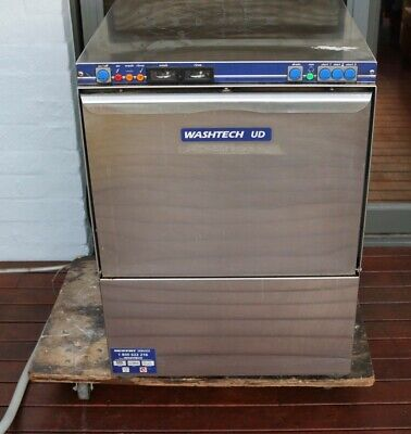 Washtech Ud Under Counter Commercial Glass Washer Cafe Restaurant Cleaning