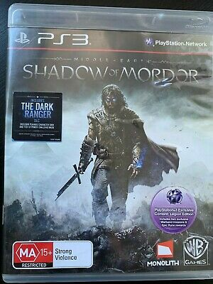 Middle Earth Shadow Of Mordor Ps3 Playstation 3 Original Aus Pal With Bonus Dlc