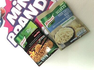 Zuru Mini Brands Knorr Four Cheese Pasta Asian Rice Side Package Miniature Set
