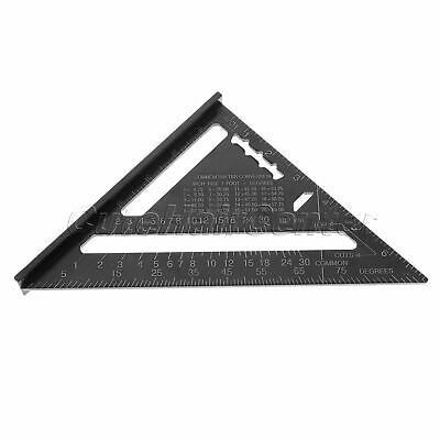 """7"""" Aluminum Alloy Speed Square Quick Roofing Rafter Triangle Ruler Guide Tool"""