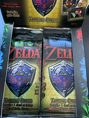 THE LEGEND OF ZELDA TRADING CARDS - 1 x PACKET OF 6 CARDS - BRAND NEW AND SEALED