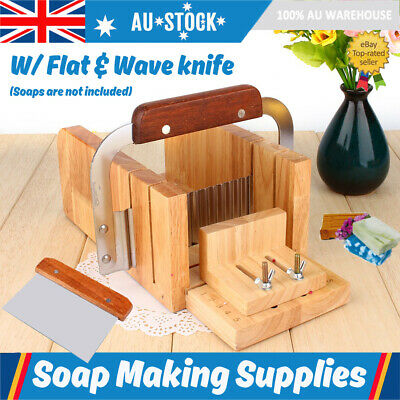 Soap Making Tools Adjustable Wood Loaf Cutter Stainless Steel Wavy Cutting Kit