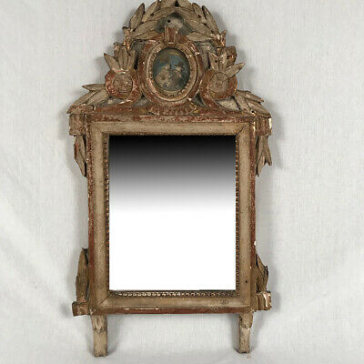 Mirror Wooden Carved and Gold Laqué. Time Louis XVI