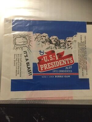 US Presidents Gum Card Wrapper