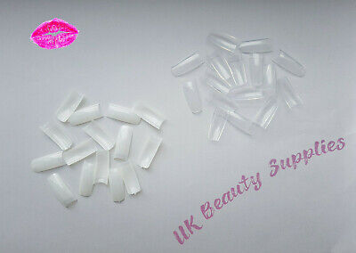 500x Professional French False Nails Acrylic Nail Tips Clear & Natural UK SELLER
