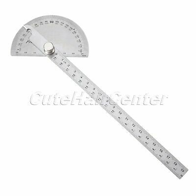 1Pcs Stainless Steel 0-180 degree Protractor Angle Finder Arm Measuring Ruler