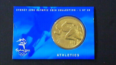 "Sydney 2000 Olympic $5 Coin  ""ATHLETICS""   # 1 of 28 -  With Outer Sleeve"