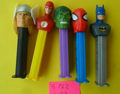 5 Mixed Pez Dispensers In Good Condition Excellent Lot Of Collectible Post Lot 2