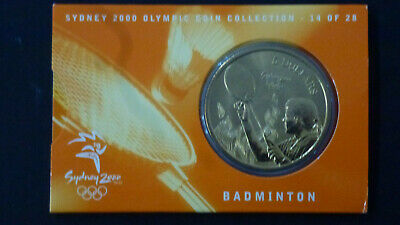 2000 Sydney Olympics $5 Coin - Australia - No: 14 of 28 - Badminton