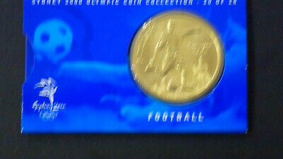 2000 Sydney Olympics $5 Coin - Australia - No: 20 of 28 - Football