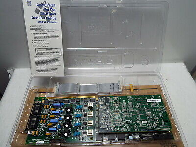 Dialogic D/41E Plus 4-Port Voice Card ISA with FAX40E, Cables 04-0522-001
