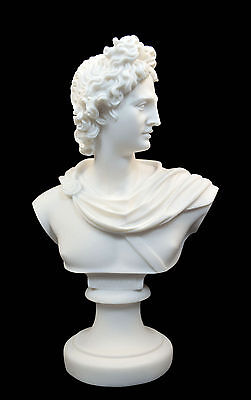 Apollo Alabaster statue big bust Ancient Greek God of light artifact