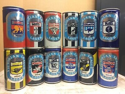 Rare Full Set Cooper & Sons South Australia Old VFL Beer Cans
