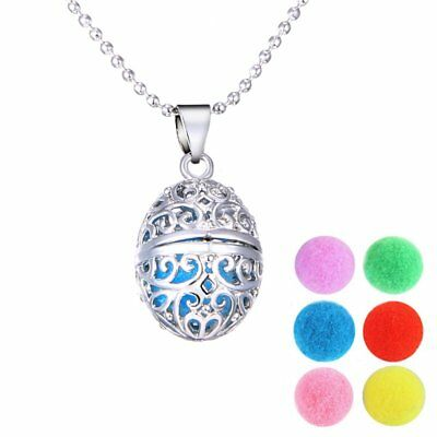 Charm Aromatherapy Essential Oil Diffuser Locket Pendant Necklace Lady Jewellery