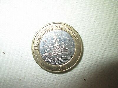 2015 Royal Navy Ww1 1914 - 1918 Hms Belfast Two 2 Pound £2 Coin 650.000 Made