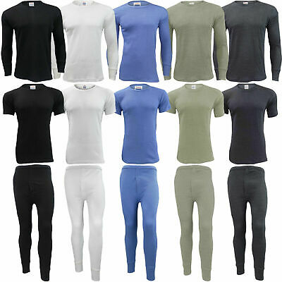 NEW Mens Thermal Long Johns Set Top Bottom T Shirt Underwear Trousers S to 2XL