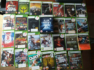 XBOX 360 (No controller) with 250GB HDD and power supply+collection of 27 games