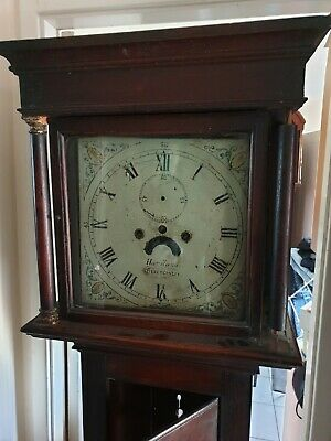 C1820 8 day   LONGCASE GRANDFATHER CLOCK DIAL+movement in need of restoration