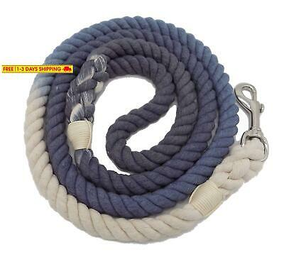 Sier 5Ft Ombre Rope Dog Leash Braided Cotton Heavy Duty Strong Durable Multi-Col