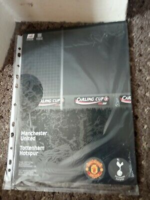 Manchester United Vs Tottenham Hotspur Carling Cup Final 2009 Matchday Programme