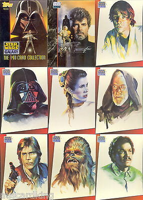 Star Wars - Galaxy Series 1 - Complete Trading Card Set (140) - 1993 Topps - NM