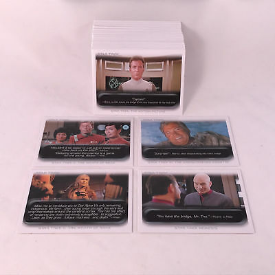 Star Trek - The Movies - The Quotable - Complete 90 Trading Card SET - 2010 - NM