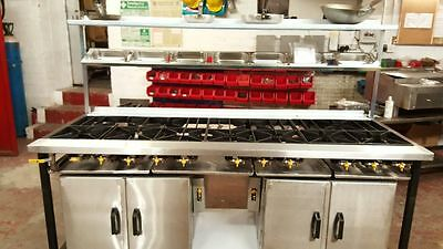 9 Burner Mild Steel INDIAN Commerical Restaurant Cooker with 2 Ovens
