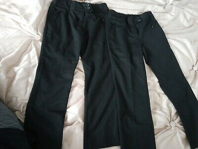 Two Pairs Of Girls School Trousers Age 9