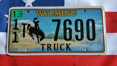 Plaque d'immatriculation Wyoming 7690 US USA license plate